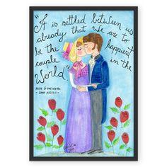 The happiest couple in the world, fine art na Colab55 em três tamanhos diferentes pra você escolher. Sementinhas Cor-de-Rosa por Carol Dib, studio @sementinhascorderosa