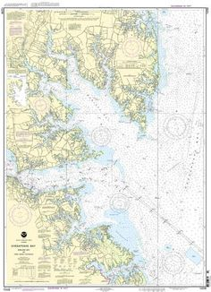Chesapeake Bay Mobjack Bay and York River Entrance Nautical Map (Chart) Preview