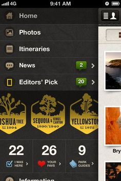 Designspiration — App Store - National Parks by National Geographic