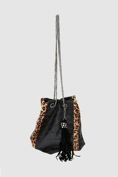 Saco con detalles de leopardo