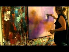 "Abstract acrylic painting Demo - Abstrakte Malerei ""Melodioso II"" by Zacher-Finet - YouTube"