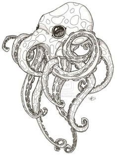 Octopus tattoo design although I don't really like the look I like the idea ., - Octopus tattoo design although I don't really like the look I like the idea …, - Octopus Drawing, Octopus Tattoo Design, Octopus Tattoos, Octopus Art, Tattoo Designs, Cute Octopus Tattoo, Octopus Sketch, Octopus Legs, Octopus Tattoo Sleeve