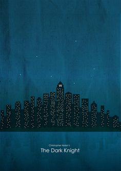 The Dark Knight (2008) ~ Minimal Movie Poster by Brenton Powell ~ Batman, Nolan Series