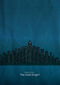 The Dark Knight (2008) ~ Minimal Movie Poster by Brenton Powell ~ Batman, Nolan Series