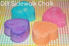 Summer Crafts for Kids - Sippy Cup Mom - DIY Sidewalk Chalk This is a fun activity to do with your kids, because you can make sidewalk chalk - Summer Crafts For Kids, Summer Diy, Projects For Kids, Diy For Kids, Outdoor Projects, Summer Activities, Craft Activities, Fun Crafts, Diy And Crafts
