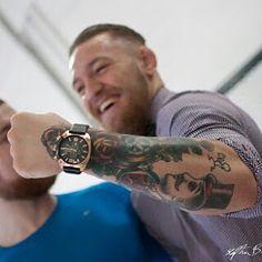 "39 Likes, 1 Comments - Conor McGregor (@mcgregorufc) on Instagram: ""#conormcgregor #tattoo #watch #luxe #ufc #champion #irish"""