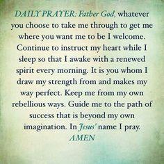 Prayer for nighttime