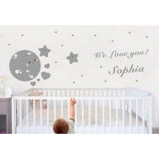 Wandtattoo Der Hase Auf Dem Mond Wandtattoo Babyzimmer Pinterest