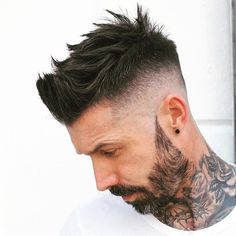 "3,458 Likes, 11 Comments - Men's hairstyles inspiration (@4hairpleasure) on Instagram: ""Like us on Facebook.com/4hishair . ✂ by @theemensroom. #4hairpleasure #tattoo"""