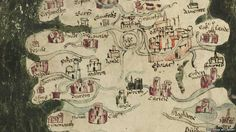 15th Century map showing northern England, where Richard earned respect and a…