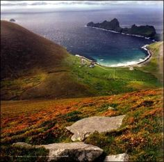 The stunning island of St Kilda, Scotland home to a quarter of the world's population of Gannets (seabirds)