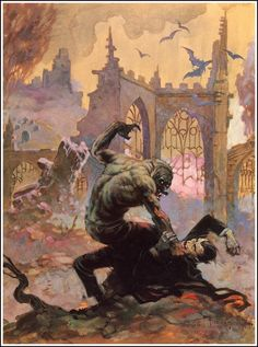 Creepy cover by Frank Frazetta (1928-2010)