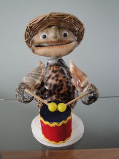 Sea Shell Misician Drummer Figurine Philippines