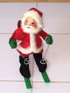 1960s annalee santa doll by spensersattic on etsy - Annalee Christmas Decorations