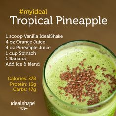 Yummy tropical pineapple protein smoothie!