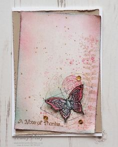 Butterfly Basics by Stampin' Up! Come and CASE the designer, Steffi Helmschrott, over at Global Design Project this week. Bee Cards, Butterflies Flying, Global Design, Butterfly Cards, Masculine Cards, Stamping Up, Stampin Up Cards, Making Ideas, Thank You Cards
