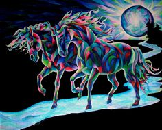 Moon Dancers Painting by Sherry Shipley - Moon Dancers Fine Art Prints and Posters for Sale