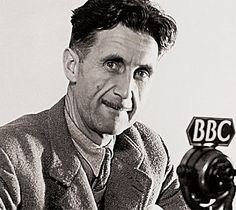 George Orwell, born Eric Arthur Blair,in Bengal. His father was a British official in the Indian civil service; his mother, of French extraction.  He eventually changed from being a pillar of the British imperial establishment into a literary and political rebel.  His book, Animal Farm, published in 1945, made him famous, but was overshadowed by his 1949 publication of Nineteen Eighty-Four (1984). He died of tuberculosis in a London hospital.