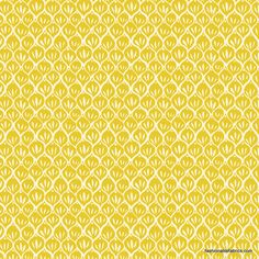 Fabric... Timber and Leaf Pine Stickers in Yellow by Blend Fabrics