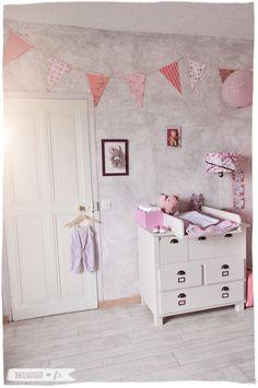 chambre bb fille vintage rtro romantique vertbaudet langer lampions guirlande liberty vide grenier - Chambre Vintage Fille