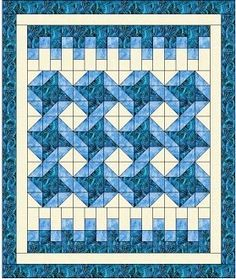 """This is the newest Heirloom Elegance Designs 3-yard quilt pattern! We are excited by this one because it is so different from previous ones. Finished, it is 42 1/4' x 501/4"""" but it can be expanded with extra borders to give it a different look. Try out"""