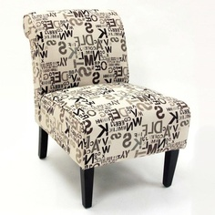 Thoth Cream Fabric Roll Back Accent Chair (Set of 2)