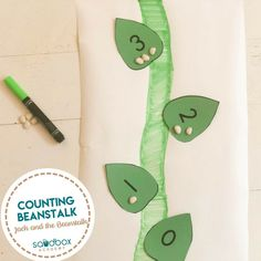Counting Beans | Sandbox Academy Jack and the Beanstalk themed numbers activity for your preschool, pre-k, and kindergarten kid. #toddler #toddleractivity #easytoddleractivity #toddleractivities   #preschoolactivities  #homepreschoolactivity #playactivity Fairy Tale Activities, Disney Activities, Pre K Activities, Fairy Tale Theme, Fairy Tales, Preschool At Home, Preschool Ideas, Jack And The Beanstalk, Kindergarten Kid