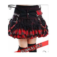 Red Plaid Studded Mini Emo Cyber Punk Goth Skirts Clothing... ($250) ❤ liked on Polyvore featuring skirts, mini skirts, gothic skirt, tartan mini skirt, plaid skirt, black gothic skirt and studded mini skirt