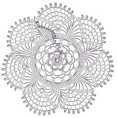 Crochet Patterns and A Great Love of Doilies. Filet Crochet, Mandala Au Crochet, Art Au Crochet, Crochet Doily Diagram, Crochet Circles, Crochet Doily Patterns, Crochet Home, Thread Crochet, Love Crochet