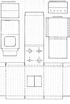 minimanie: The gazinère Emilia plans on how to make a vintage french gas stove from cardstock Cardboard Kitchen, Cardboard Dollhouse, Diy Dollhouse, Dollhouse Miniatures, Paper Doll House, Doll House Crafts, Barbie Doll House, Barbie House Furniture, Doll Furniture