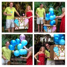 Gender reveal at easter!  It's a boy announcement.
