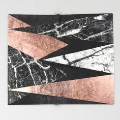 Elegant Modern Marble throw by by BlackStrawberry