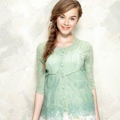 Women Cute Lace Spliced Hollow Pattern Summer Cardigan