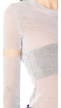 Dion Lee Light Reflective Pullover Knit Wear, Dion Lee, Wearable Technology, Knit Picks, Keep Warm, Knits, Fashion Dresses, Sew, Textiles
