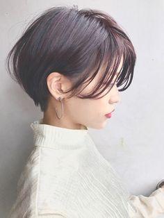 Coast.前髪長めのすだれバングショート×ピンクバイオレット★ - 24時間いつでもWEB予約OK!ヘアスタイル10万点以上掲載!お気に入りの髪型、人気のヘアスタイルを探すならKirei Style[キレイスタイル]で。