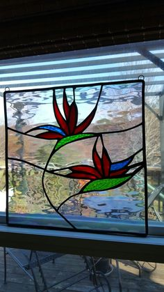 Birds of Paradise stained glass piece that I finished on 12/19/2017.