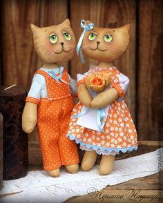 Ароматизированные куклы ручной работы. Ярмарка Мастеров - ручная работа Осенние влюблённые котики Кофейная Ароматизированная Интерьерная Кукла. Handmade.