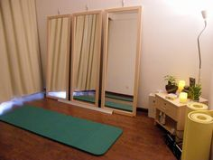 Simple yoga and meditation space. i want to transform my corner of the living room to THIS :)