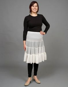 ($14.00) This classic vintage petticoat is perfect for adding a bit of volume to your skirts and dresses. Made of soft nylon, this petticoat has plenty of stretch and is very comfortable.