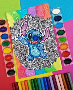 🍃OHANA🍃 ¿Quién recuerda lo que significa? Mandala Art, Mandala Drawing, Mandala Design, Cute Disney Drawings, Mini Drawings, Flower Drawings, Doodle Art Drawing, Zentangle Drawings, Zen Doodle