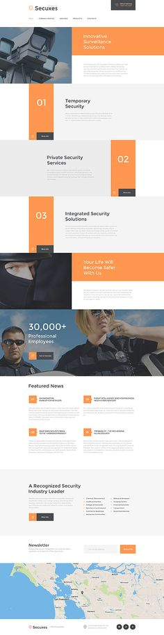 Security Company #website #template. #themes #business #responsive #websitethemes