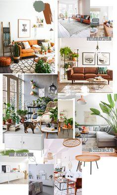 LIVING ROOM INSPIRATION - cognac leather sofa