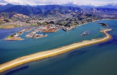 Nelson, with the Boulder Bank, foreground, see more, learn more, at New Zealand Journeys app for iPad http://www.gopix.co.nz