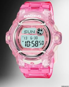 90's Baby G watches. If you had a big watch, you were a big deal...I had one of these, I just can't remember if it was pink or what color it mighta been!!