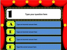 Three Hollywood themed PowerPoint test templates.