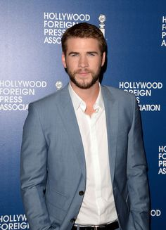 #CatchingFire star Liam Hemsworth arrives at the Hollywood Foreign Press Association's 2013 Installation Luncheon in Beverly Hills (Photo by Jason Merritt, Kevin Winter)