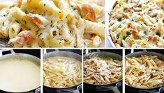 10 najlepších receptov na chutné cestoviny, ktoré viete rýchlo pripraviť, Dobrú chuť! - Recepty od babky Pasta Recipes, Cooking Recipes, Penne, Pasta Salad, Cauliflower, Macaroni And Cheese, Mozzarella, Food Porn, Food And Drink