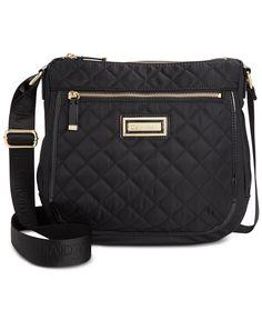 Calvin Klein Nylon Quilted Messenger - Crossbody & Messenger Bags - Handbags & Accessories - Macy's