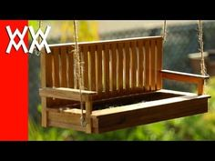 Video: how to make a porch swing bird feeder. Free plans!
