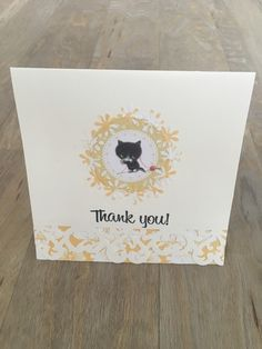 Thank You card  £3.80